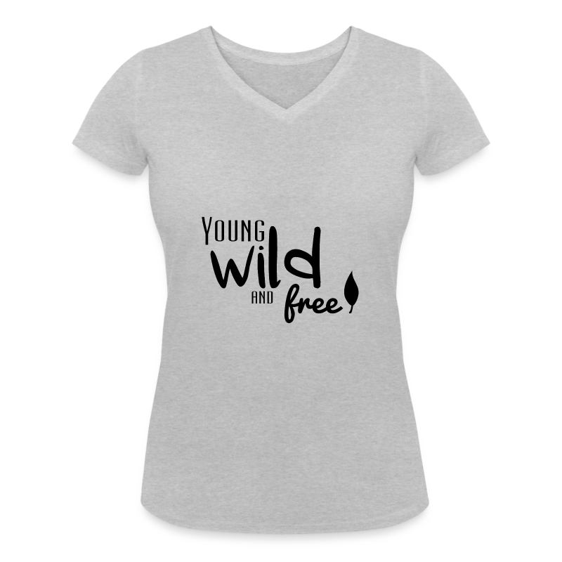 Young, wild and free - T-shirt col V Femme