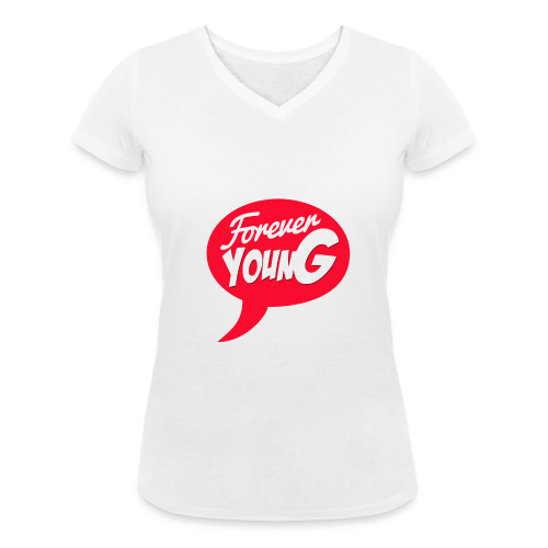 Forever young - T-shirt bio col V Stanley & Stella Femme