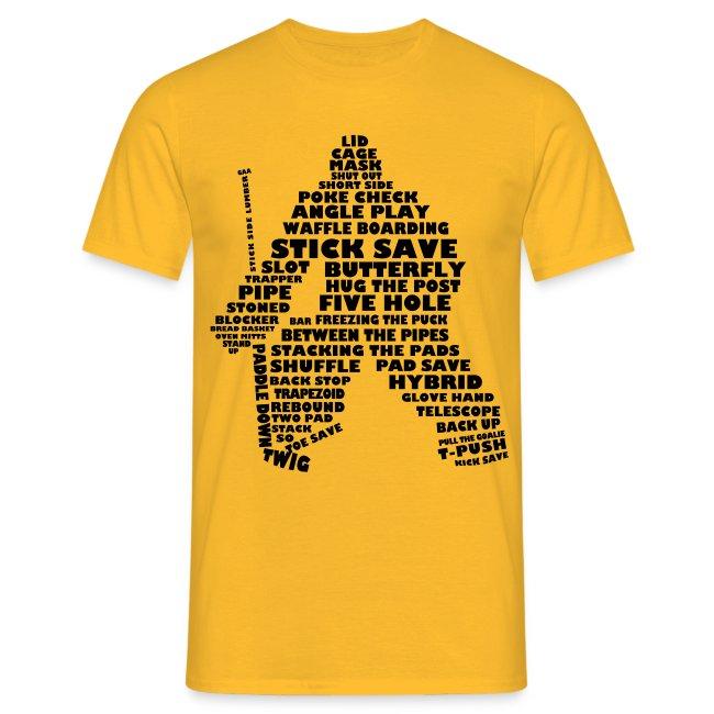 Ice Hockey Goalie Typography Men's T-Shirt