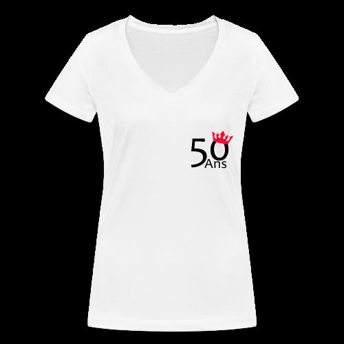 50 ans - T-shirt bio col V Stanley & Stella Femme