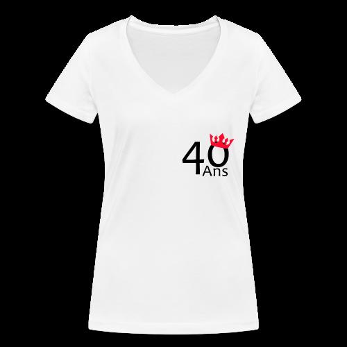 40 ans - T-shirt bio col V Stanley & Stella Femme