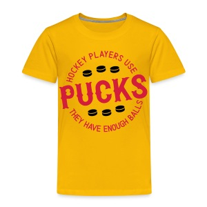 Hockey Players Use Pucks Children's T-Shirt - Kids' Premium T-Shirt