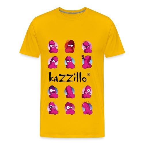 kazzillo emoticon e logo Magliette - Maglietta Premium da uomo