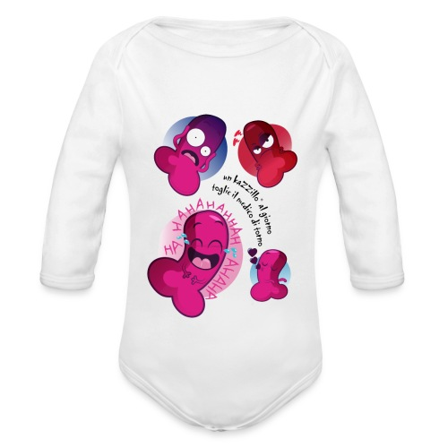 un kazzillo al giorno Body neonato - Body ecologico per neonato a manica lunga