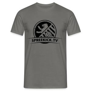 SPREEKICK.TV T- Shirt / grau   - Männer T-Shirt