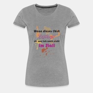 Wenn dieses Shirt sauber