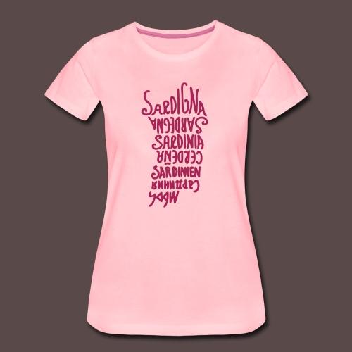 Sardegna, silhouette lingue (donna) - Maglietta Premium da donna