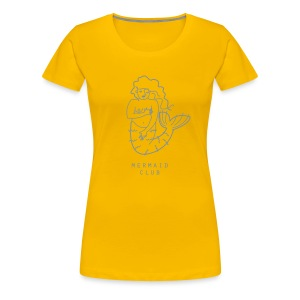 MERMAID CLUB VINTAGE YELLOW - Frauen Premium T-Shirt