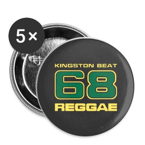 5 Buttons Kingston Beat 68 black - Buttons mittel 32 mm