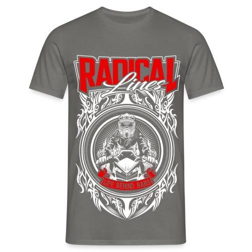Radical lines life behind bars print 2 - Men's T-Shirt