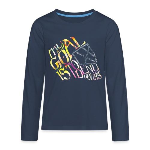 My Goal Hockey Goalie Teenager's Long Sleeve T-Shirt - Teenagers' Premium Longsleeve Shirt