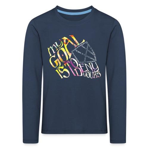 My Goal Hockey Goalie Children's Long Sleeve T-Shirt - Kids' Premium Longsleeve Shirt