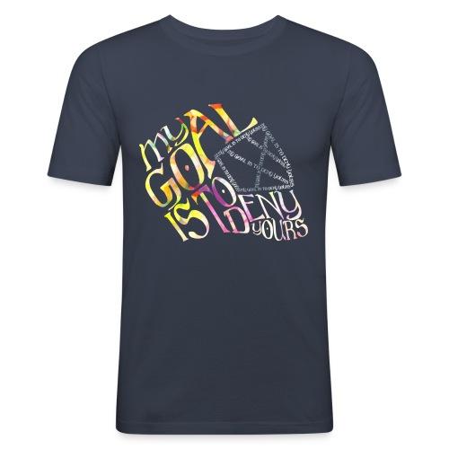 My Goal Hockey Goalie Men's Slim Fit T-Shirt - Men's Slim Fit T-Shirt