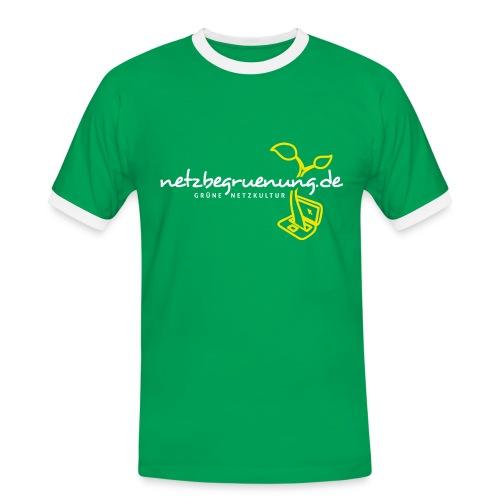 Netzbegrünungs-Shirt Kontrast-T-Shirt Männer - Männer Kontrast-T-Shirt
