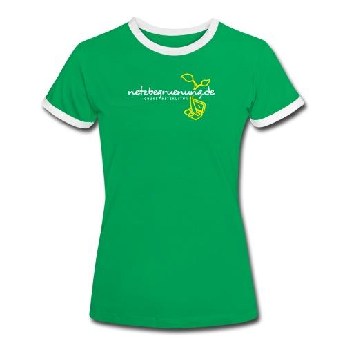 Netzbegrünungs-Shirt Kontrast T-Shirt Frauen - Frauen Kontrast-T-Shirt
