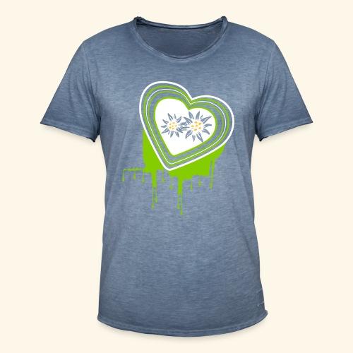 Männer Shirt Mein farbiges Herz - Männer Vintage T-Shirt