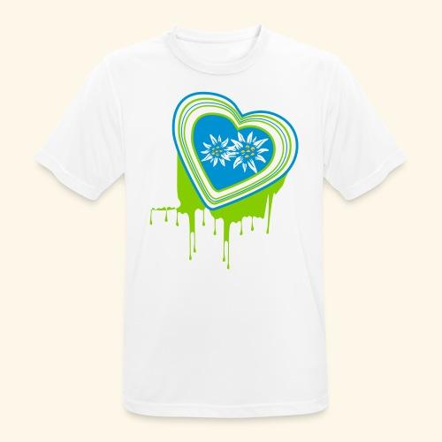 Männer Shirt Mein farbiges Herz - Männer T-Shirt atmungsaktiv