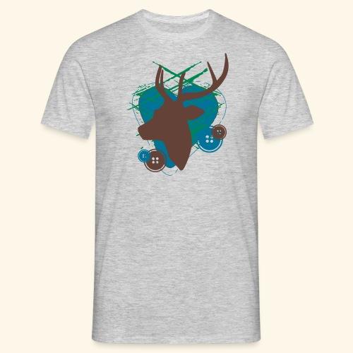 Männer Shirt Mein farbiges Herz - Männer T-Shirt