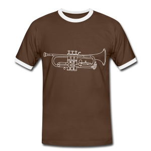 Trompete Blechblasinstrument - Männer Kontrast-T-Shirt