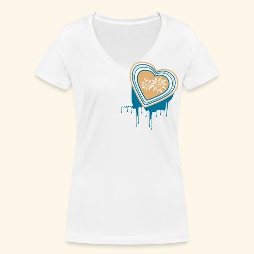 Frauen Shirt mit V-Ausschnitt Mein farbiges Herz - Frauen Bio-T-Shirt mit V-Ausschnitt von Stanley & Stella