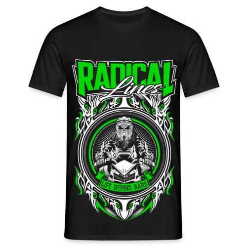 behind bars green black - Men's T-Shirt