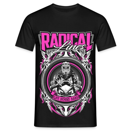 behind bars pink black - Men's T-Shirt