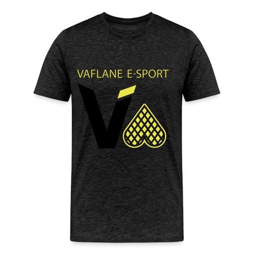 Vaflane T-Skjorte Grå - Premium T-skjorte for menn