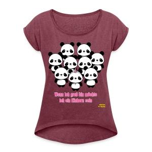 Unicorndream - Frauen T-Shirt mit gerollten Ärmeln