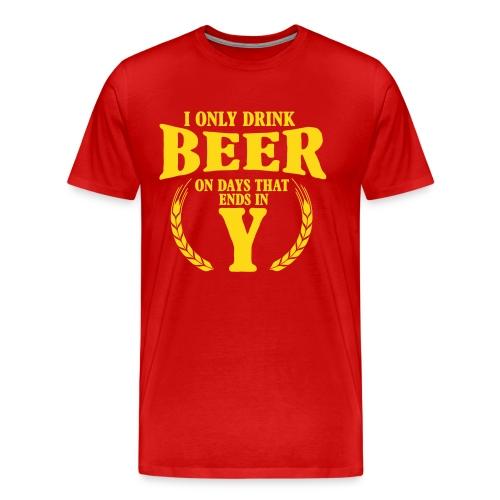 Bierdrink T-shirt voor consequente heren - Mannen Premium T-shirt