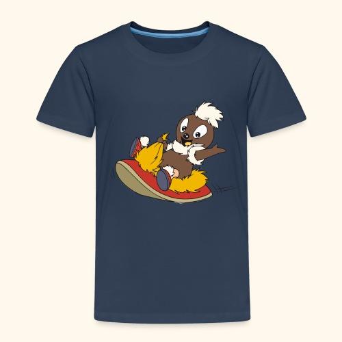 Kinder Premium T-Shirt Pittiplatsch auf Pantoffel - Kinder Premium T-Shirt