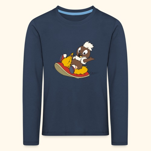 Kinder Premium Langarmshirt Pittiplatsch auf Pantoffel - Kinder Premium Langarmshirt