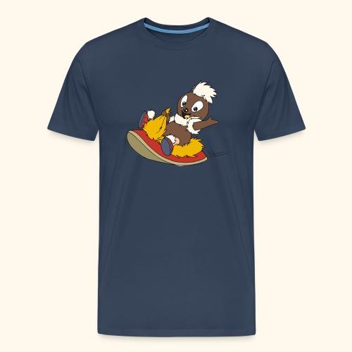 Männer Premium T-Shirt Pittiplatschauf Pantoffel - Männer Premium T-Shirt