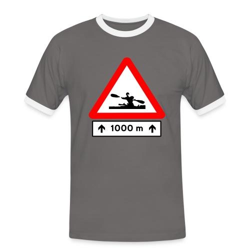Camiseta vintage Peligro: Kayak - Camiseta contraste hombre