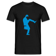 T-Shirts ~ Men's T-Shirt ~ John Cleese Silly Walk Black Men's Shirt