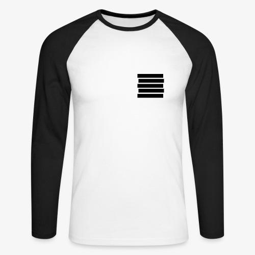 Baseballshirt Stripes - Männer Baseballshirt langarm
