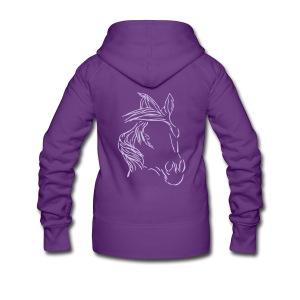 Dreamhorse, Frauen Kapuzenjacke ( Print Lavendel) - Frauen Premium Kapuzenjacke