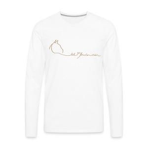 LOGO Schriftzug, Back MPS Reiter Men Longsleeve ( Print Light Brown) - Männer Premium Langarmshirt