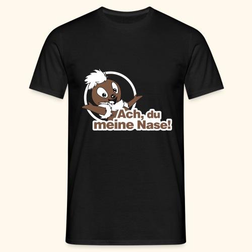 Männer T-Shirt (groß) Pittiplatsch Ach, du meine Nase - Männer T-Shirt