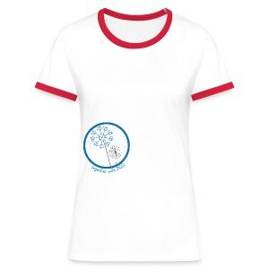 Kontrast-Shirt Pusteblume - Frauen Kontrast-T-Shirt