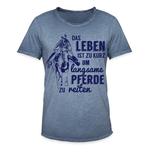 Langsame Pferde reiten - Männer Vintage T-Shirt