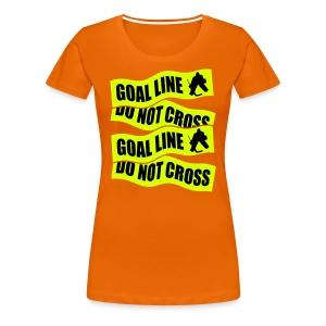 Goal Line Do Not Cross Women's Premium T-Shirt - Women's Premium T-Shirt