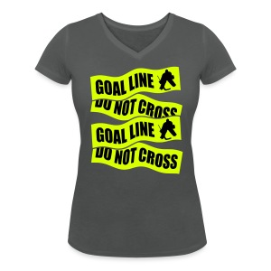 Goal Line Do Not Cross Women's V-Neck T-Shirt - Women's Organic V-Neck T-Shirt by Stanley & Stella