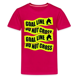Goal Line Do Not Cross Hockey Teenager's T-Shirt - Teenage Premium T-Shirt