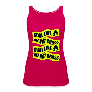 Goal Line Do Not Cross Women's Hockey Vest Top - Women's Premium Tank Top