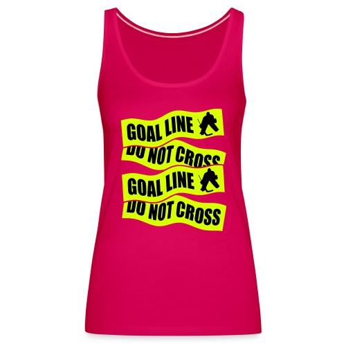Goal Line Do Not Cross Women's Hockey Vest Top - Women's Premium Tank Top
