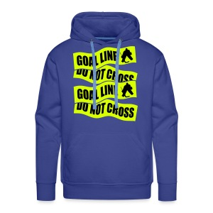 Goal Line Do Not Cross Men's Hockey Hoodie - Men's Premium Hoodie
