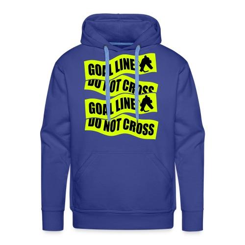 Goal Line Do Not Cross Men's Hockey Hoodie - Men's Premium Hoodie