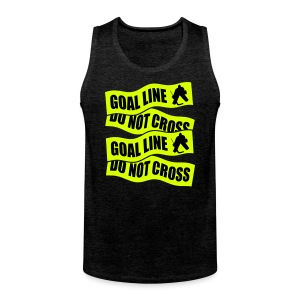 Goal Line Do Not Cross Men's Hockey Vest Top - Men's Premium Tank Top
