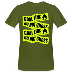 Goal Line Do Not Cross Men's Organic T-Shirt - Men's Organic T-shirt