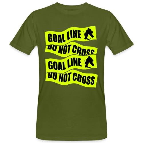 Goal Line Do Not Cross Men's Organic T-Shirt - Men's Organic T-Shirt